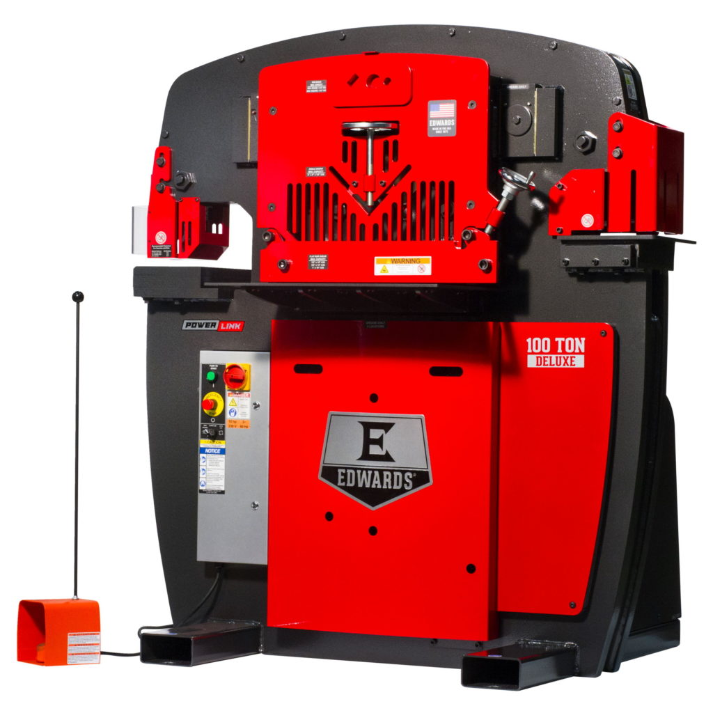 EDWARDS 100 Ton Deluxe Ironworker