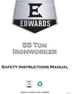Ironworkers Canada -Edwards 55 Ton Manual