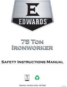 Edwards 75 Ton Ironworker Manuals
