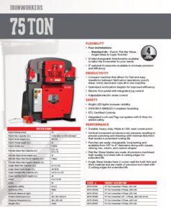Ironworkers Canada - Edwards 75 Ton Specs Sheet