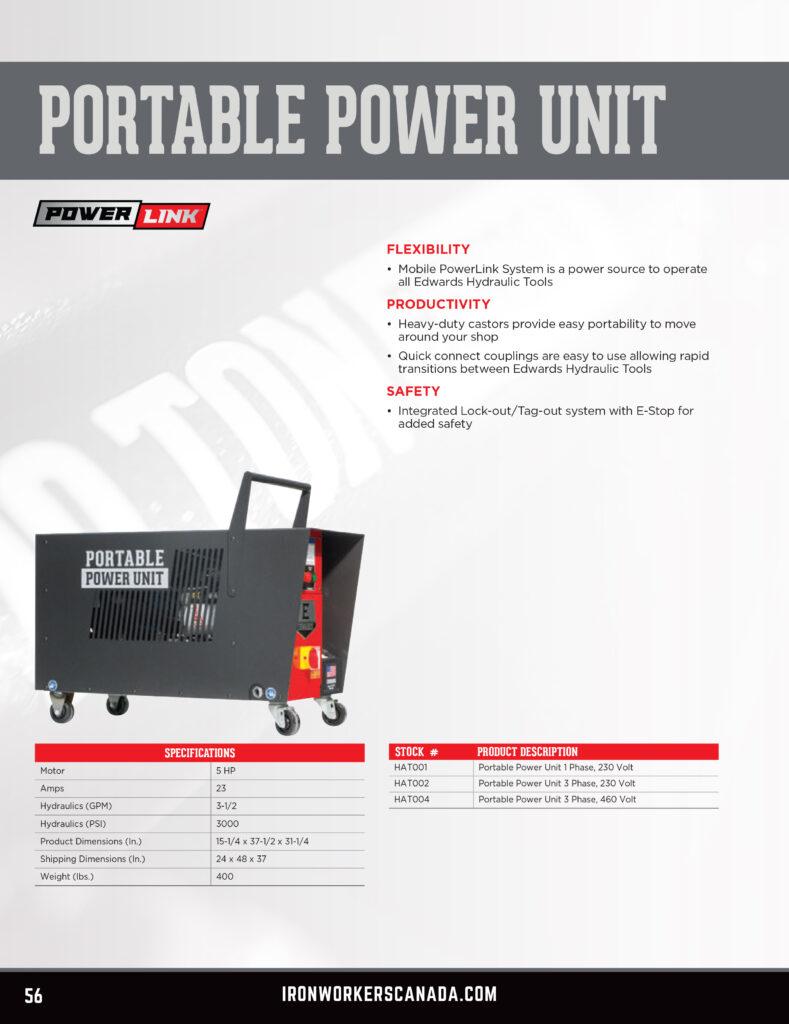 Ironworkers Canada - Edwards Portable Power Unit