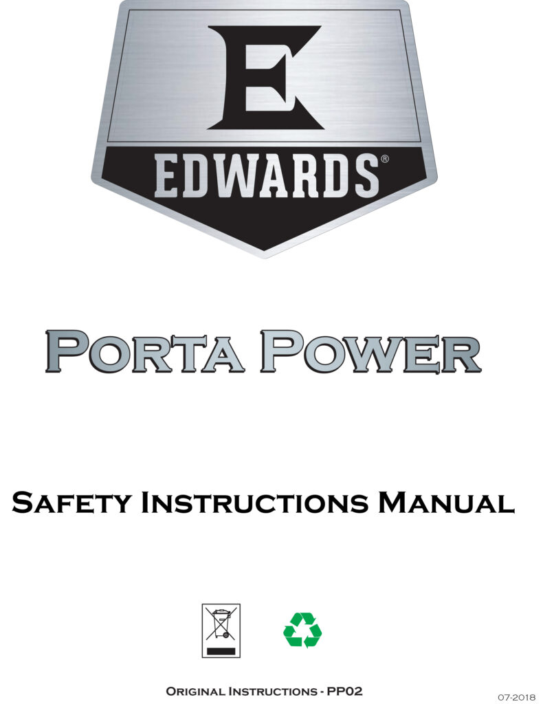 Edwards Portable Power Safety Instructions Manual